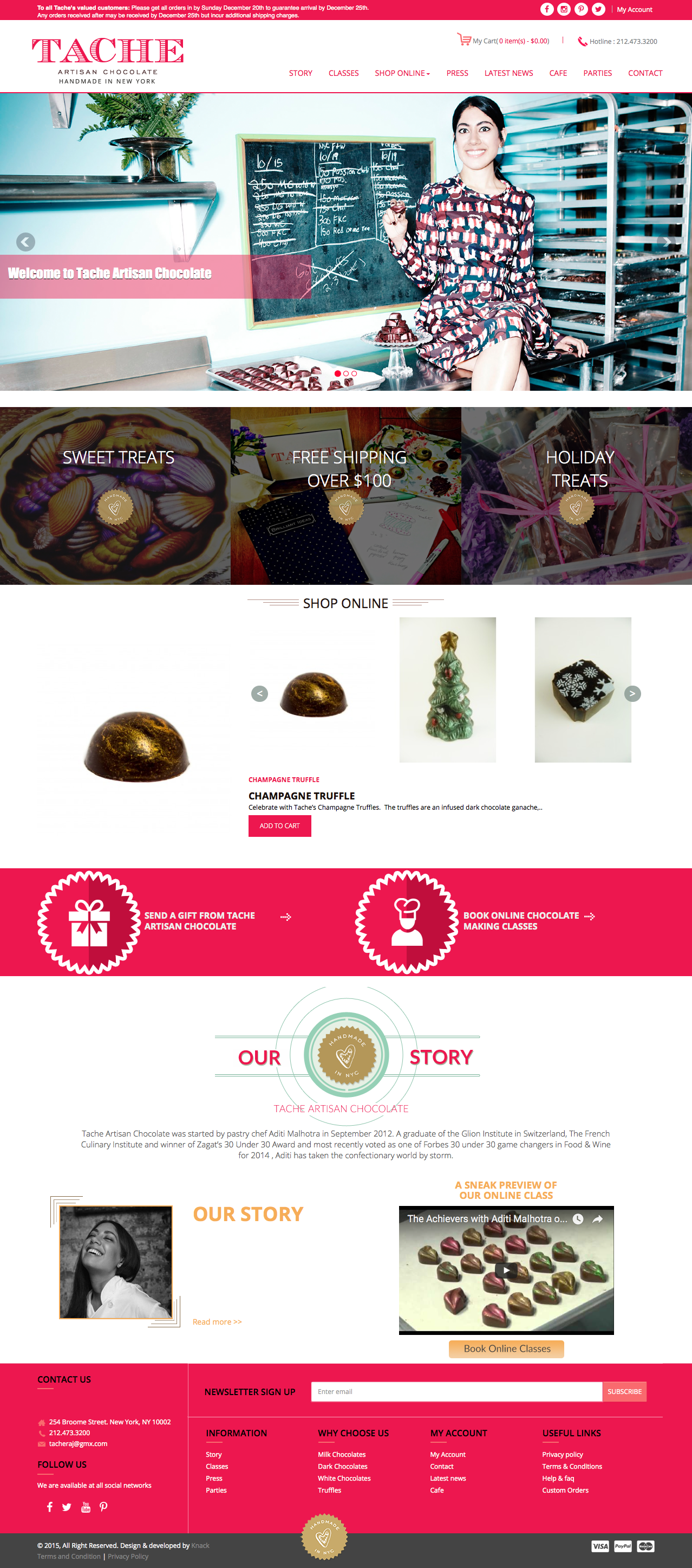 Tache Artisan Chocolate- Home Page